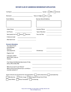 Fillable Form